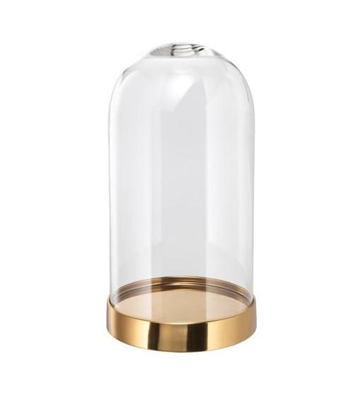 1 Cloche en verre avec socle